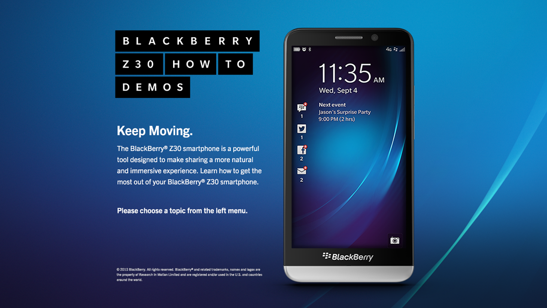 BlackBerry Device Switch Demo - BlackBerry Z30